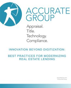 Whitepaper cover for Innovation Beyond Digitization: Best Practices for Modernizing Real Estate Lending